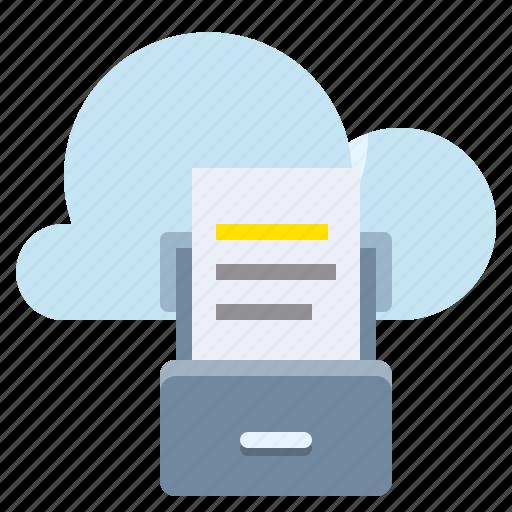 cloud, computing, network, storage icon