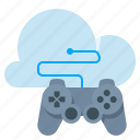 cloud, controller, game, network icon