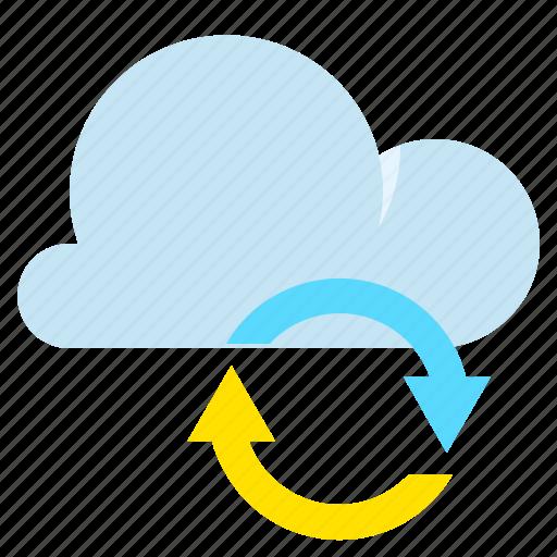 cloud, data, network, synchronization icon