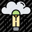 backup, cloud, drive, flash, usb icon