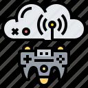 cloud, game, gaming, joystick, service