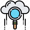 analysis, cloud, find, research, search icon