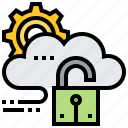 cloud, protection, security, setting icon