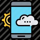 cloud, data, setting, smartphone icon