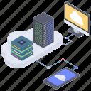big data, cloud data, cloud data transfer, cloud storage, cloud storage center icon