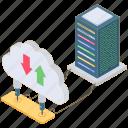 cloud data, cloud data transfer, cloud downloading, cloud sharing, cloud storage, cloud uploading icon