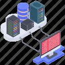 database connection, database hosting, database server, internet hosting, server computing, server hosting icon
