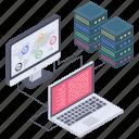 big data processing, big data sharing, database computing, database connectivity, database processing icon