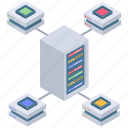 computing power, database server, power hosting, power server, power storage icon