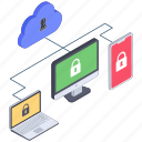 cloud lock, cloud protection, cloud security, cloud security devices, cloud security network icon