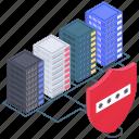data server protection, databank protection, database access, database protection, secure data hosting icon
