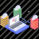 big data sharing, database computing, database connectivity, database processing icon