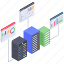 databank analysis, database analytics, server analysis, server analytics, server statistics icon
