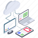 cloud communication, cloud computing, cloud connection, cloud devices, cloud network, cloud sharing icon