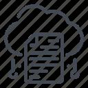 cloud, doc, document, file, save, service, storage