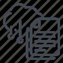archive, cloud, doc, document, file, service, storage