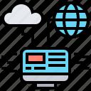 cloud, computing, internet, network, system