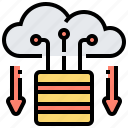 cloud, data, download, server, storage