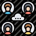 algorithm, cloud, cluster, network, users
