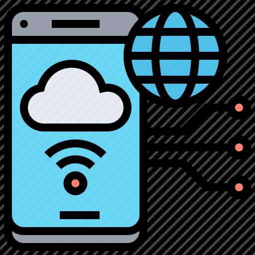 Application, hosted, internet, server, smartphone icon - Download on Iconfinder