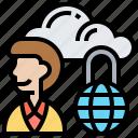 account, cloud, locked, private, storage