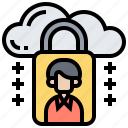 cloud, locked, passwords, private, security