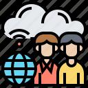 cloud, public, server, users, wifi