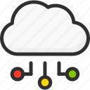cloud, connection, network, service, storage icon
