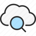 cloud, find, search, service, storage icon