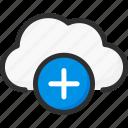add, cloud, new, plus, service, storage