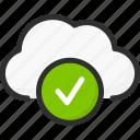 accept, check, cloud, mark, ok, service, storage