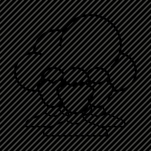 account, cloud, group, profile, public cloud, service, users icon