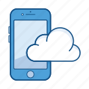 app, cloud, communication, device, iphone, mobile, service icon