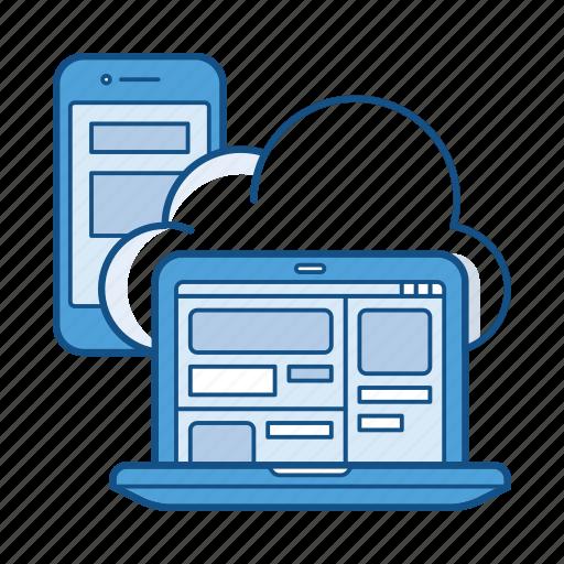 app, cloud, mobile, saas, server, service, soft icon