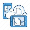 cloud, document, file, mobile, service, storage, sync icon