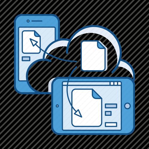 cloud, document, file, mobile, service, storage, sync icon