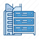 client, cloud, data, network, on premise, server, service icon