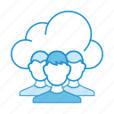 account, cloud, group, profile, public cloud, service, users icon