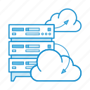 cloud, data, hosting, iaas, infrastructure, server, service icon