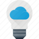 bulb, ideal, computing, cloud, light icon