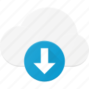 cloud, computing, download icon