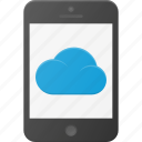 phone, syncronize, cloud, computing icon