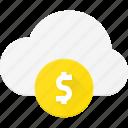 cloud, computing, money, pay, premium icon