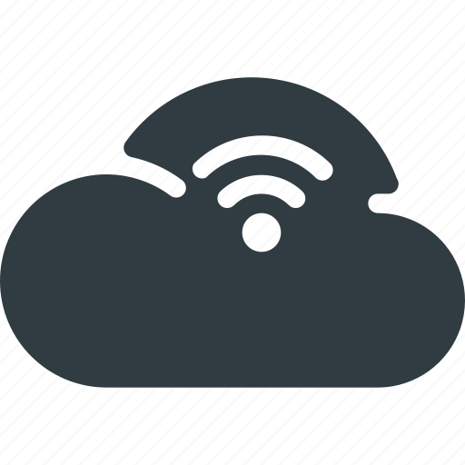 cloud, computing, stream, wireless icon