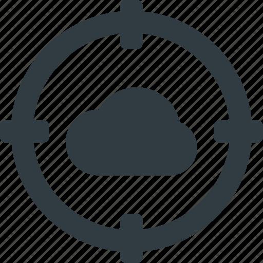 Atack, cloud, computing, target icon - Download on Iconfinder