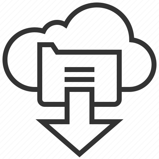 cloud, data, document, documents, download, file, storage icon