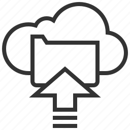 arrow, cloud, data, storage, upload icon