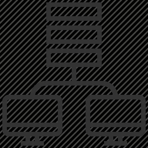 communication, connection, database, development, web icon