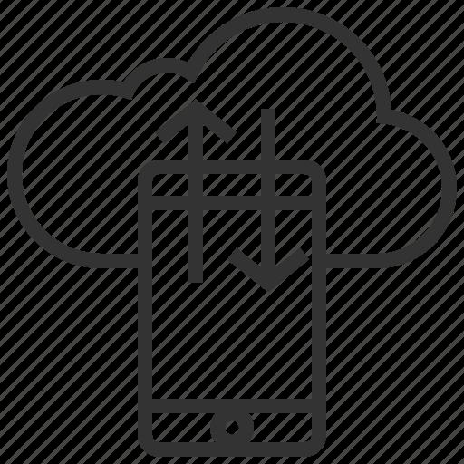 communication, data, file, mobile, network, smartphone, transfer icon