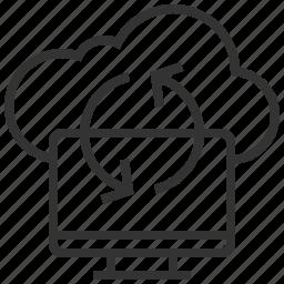 cloud, connection, data, internet, synchronize icon